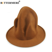 BUTTERMERE Magician Top Hat Men Women Wool British Vintage Mens Top Hats Coffee Red Black Autumn Winter Stage Magic Fedoras Hat(China)