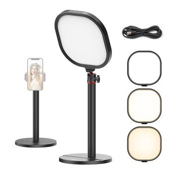 VIJIM K7 3200K-5600K lampa wideo Youtube z stojak na biurko 360 wypełnienie światła pulpit na żywo lampa studyjna do makijażu Youtube tanie i dobre opinie Ulanzi CN (pochodzenie) Bi-color 3200 K-5600 K