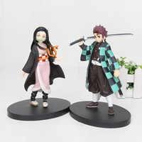 16cm Anime Dämon Slayer Kimetsu keine Yaiba Kamado Tanjirou Kamado Nezuko PVC Action Figure Krieger Modell Figuals Spielzeug Geschenke