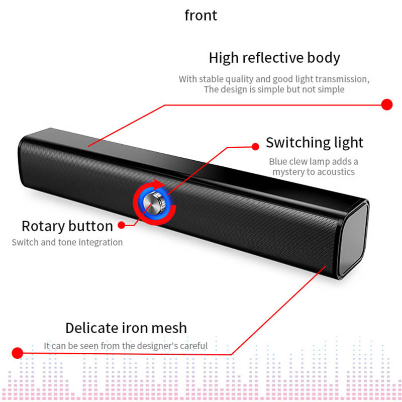 20W Wireless bluetooth speaker home theater sound subwoofer  computer sound bar portable boombox music center stereo home TV PC Pakistan