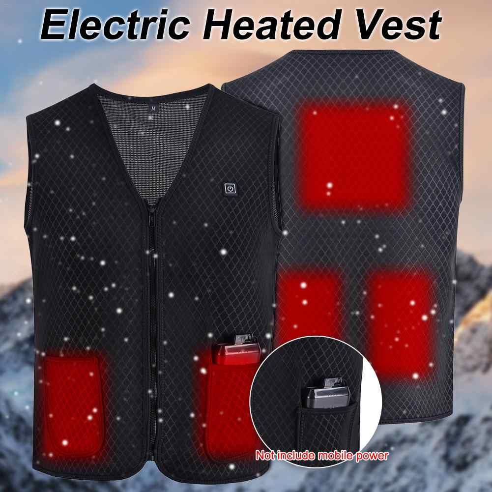 Neue Männer Frauen Outdoor USB Infrarot Heizung Weste Jacke Winter Elektrische Thermische Kleidung Weste Für Reise Angeln Wandern