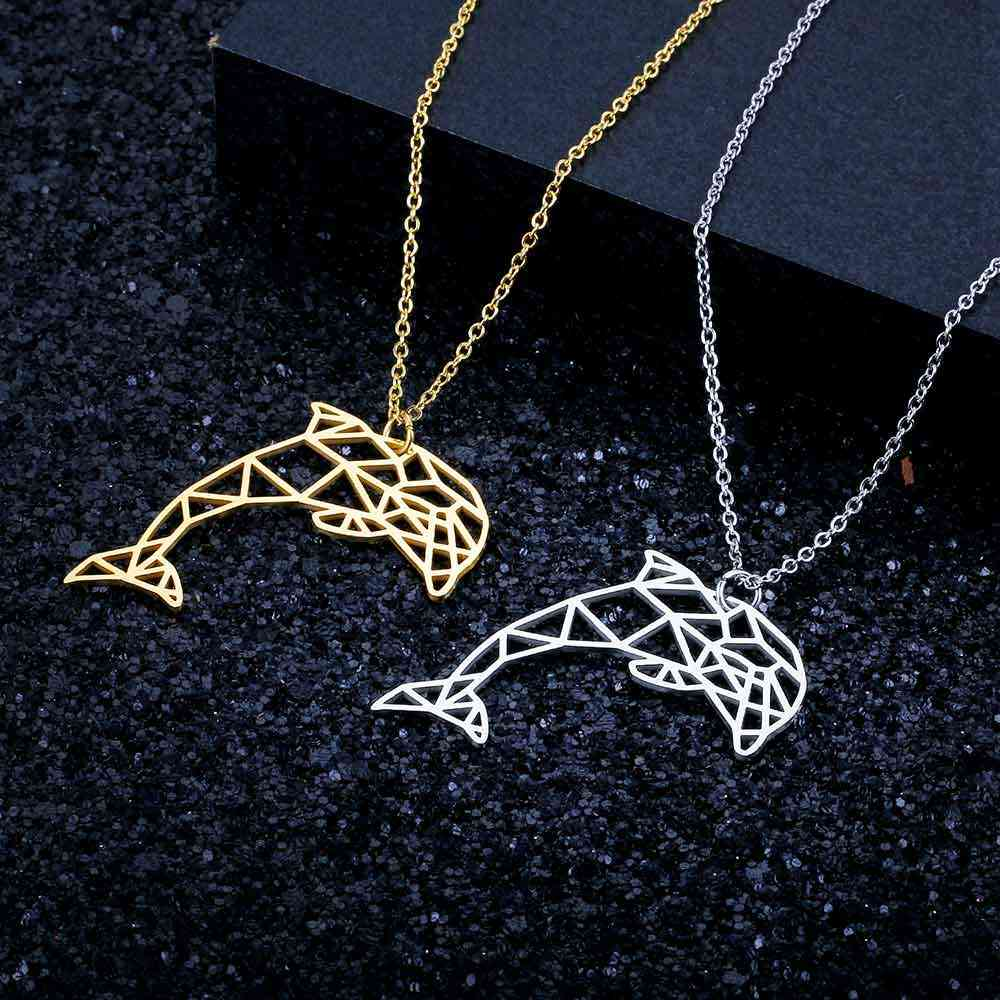 Unique Luxury Dolphin Necklace LaVixMia Italy Design 100% Stainless Steel Necklaces for Women Super Fashion Jewelry Special Gift
