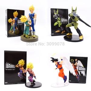 12-21CM Dragon Ball Son Goku PVC Action Figures DRAMATIC SHOWCASE Angel Goku Gohan Frieza Model Toy Doll PVC Figuras DBZ Gokou(China)