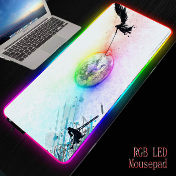 MRGBEST Anime Final Fantasy Large Gamer RGB Mouse Pad Anti-slip Locking Edge Mause Office Desk Computer Game Keyboard Table Mat mrgbest beautiful anime fantasy forest non slip and durable rubber computer lockedge mat cartoon printing large game mouse pad