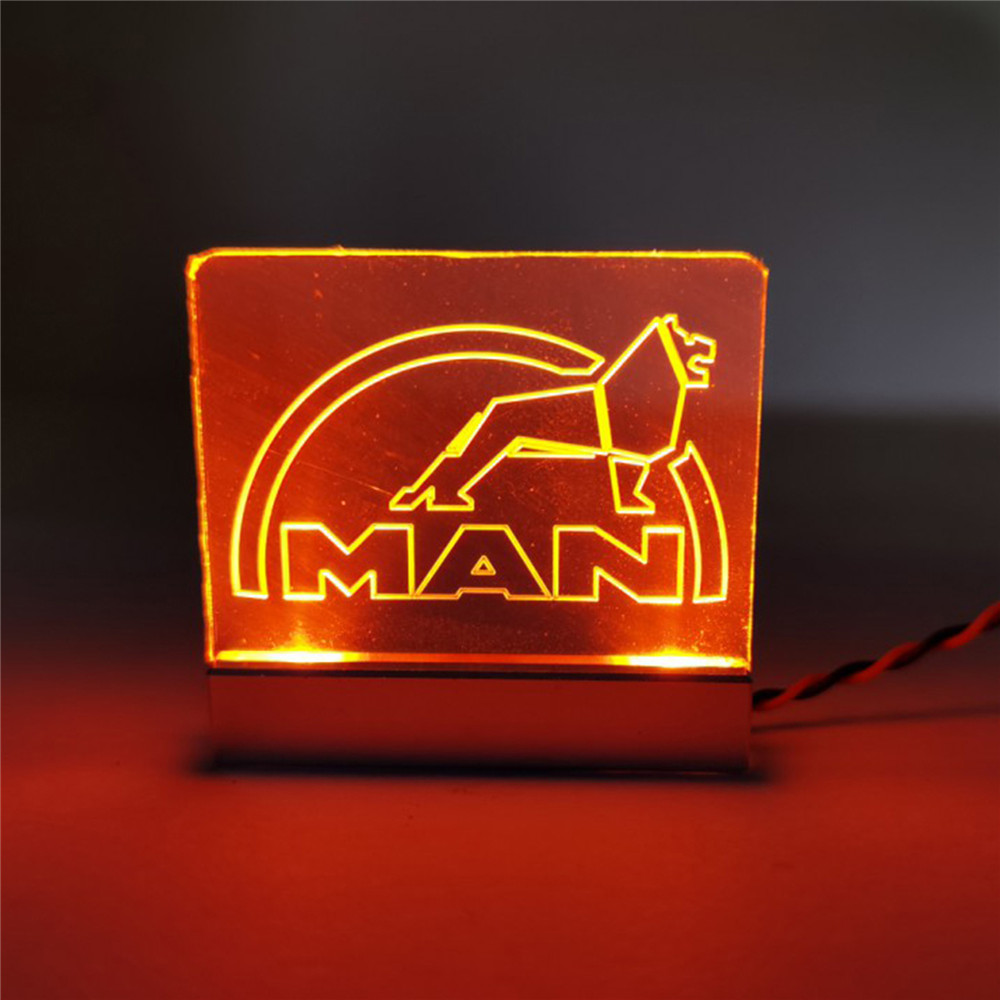 Acrylic Lamp Marker <font><b>Light</b></font> with Man LOGO for TAMIYA 1/14 Man 540 56325 TGX RC Car Upgrade Part image