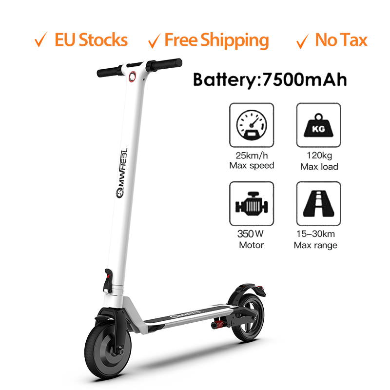 IScooter Electric Scooter Smart Folding Electric Hoverboard 350W Electronic Brake Skateboard Display Screen With LED Light