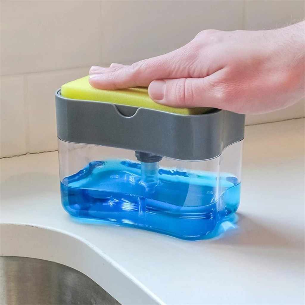 2 In 1sponge Rack Soap Dispenser