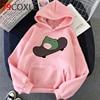 Kawaii Dinosaur Graphic Hoodies Women Funny Winter Warm Cartoon Frog Streetwear Ladies Ullovers Tops Anime Sweatshirts Female 3
