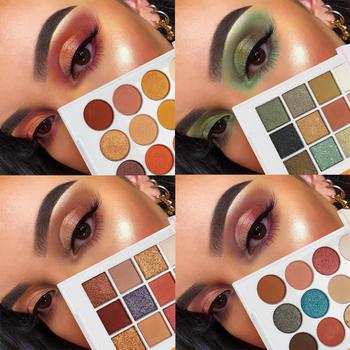12 Colors Shimmer Eyeshadow Stamp Pigment Pallete Earth Shadows Set Glitter Powder Eye Makeup Maquillage Matte Shimmer TSLM1 New