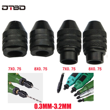 4 types Multi Chuck Keyless For Dremel Rotary Tools 0.3-3.2mm Keyless Drill Bit Chucks Adapter Converter Universal Mini Chuck mini universal 0 3 3 5mm 3 17mm micro electronic drill chuck tools sets m25