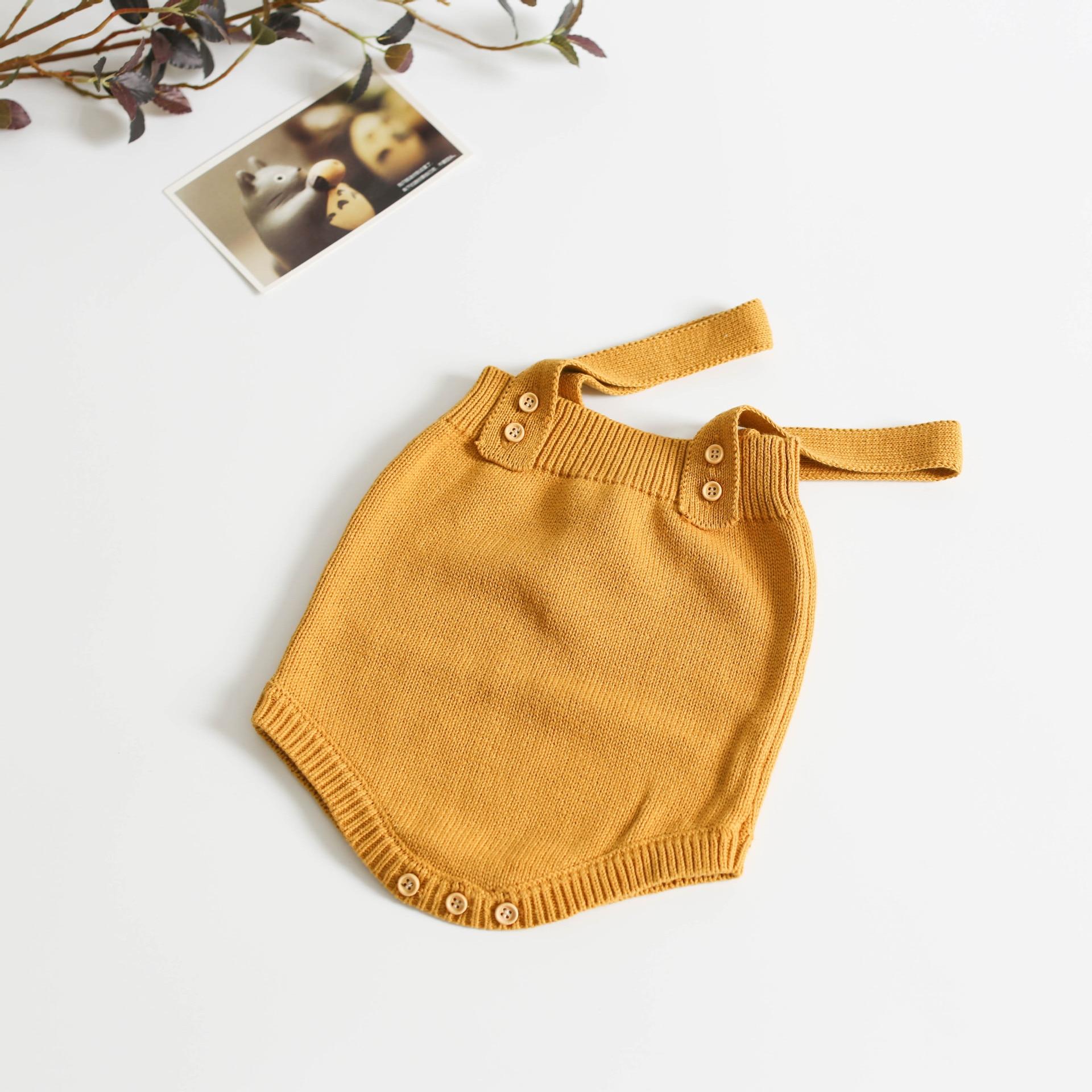 H671d8e6e391a4ff9910d7f54933fcb2cy Baby Knitting Rompers Cute Overalls Newborn Baby Girls Boys Clothes Infantil Baby Girl Boy Sleeveless Romper Jumpsuit 0-24m