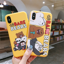 Cartoon Case for iPhone XR XS Max 6 6S Plus We Bare Bears funny Silicone Soft Coque Cover TPU Shell For 7 8 X