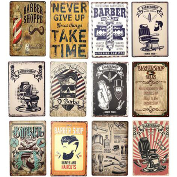 Retro Poster for Barber Shop Vintage Metal Tin Signs Plaque Wall Decoration Tinplate 20x30cm