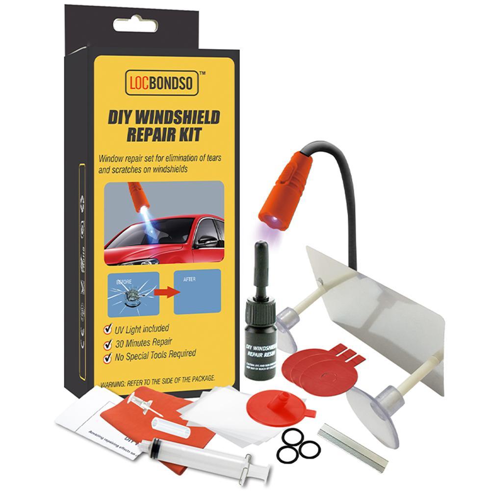 Набор инструментов для ремонта лобового стекла DIY с УФ-отверждением, светильник для окна автомобиля, стекло с царапинами, трещина для восста...