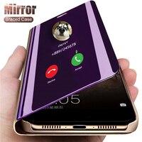 Funda de lujo con espejo inteligente para iPhone, carcasa protectora con tapa para modelos 13, 11, 12 Mini Pro Max, 8, 7, 6, 6s Plus, XR, X, Xs Max, SE 2020