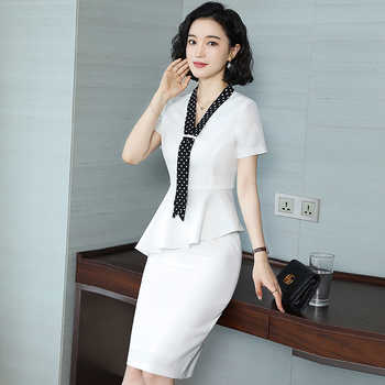 Fashion medical beauty industry white professional suit OL short-sleeved workplace beauty salon manager dress front desk - DISCOUNT ITEM  15 OFF All Category