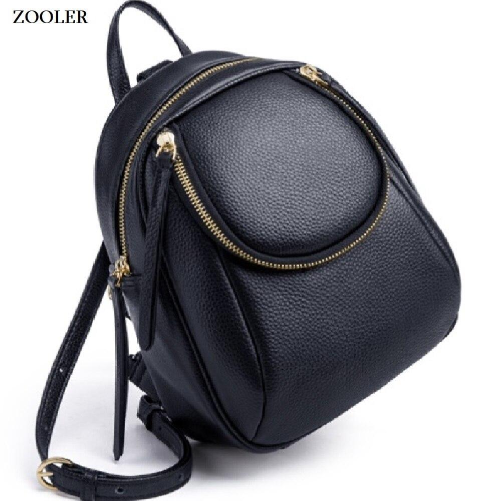 2019 nueva mochila de cuero de vaca mochilas de cuero genuino mujeres elegante bolso de escuela suave bolso de mano de viaje Bolsas de alta calidad # ql201-in Mochilas from Maletas y bolsas    1