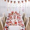 Украшения для вечерние Bing Rabbit, Подарочный мешок для детских шаров, тарелки, ножи, ложки, салфетки, соломенная одноразовая посуда, принадлежн...
