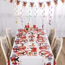 Bing coelho festa decorações crianças balão saco de presente copos placas facas colheres guardanapo palha descartáveis utensílios de mesa suprimentos