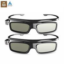 Youpin Fengmi inteligentny DLP LINK typu migawki okulary 3D z kablem ładującym USB dla Xiaomi Laer projektor TV 3D szkło