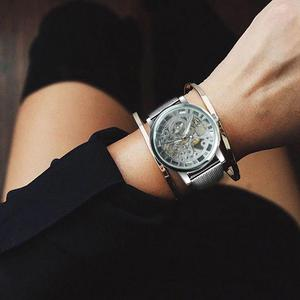 Image 5 - WINNER Official Fashion Women Watches Ultra Thin Mesh Strap Top Brand Luxury Skeleton Mechanical Elegant Ladies Wristwatch Girls