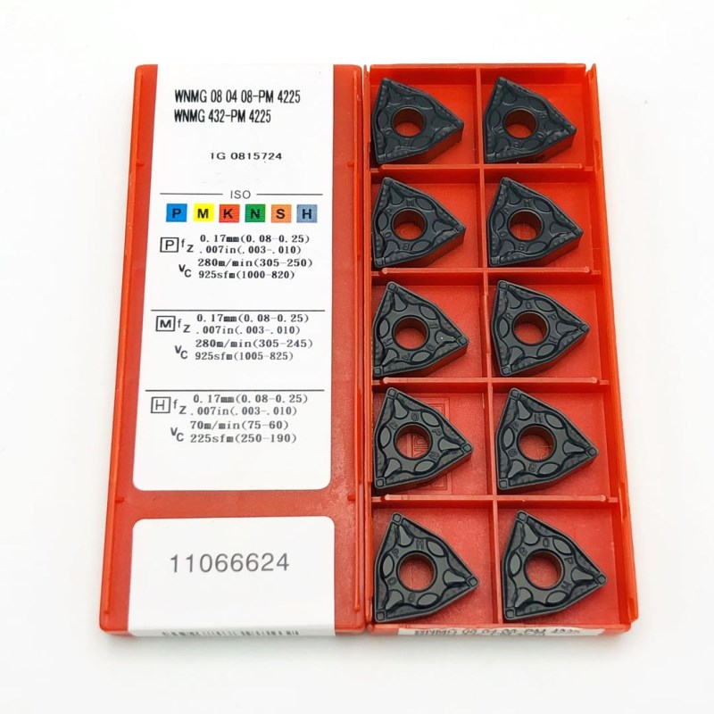 Carbide tool WNMG080404 PM 4225 metal turning tool CNC cutting tool tungsten carbide lathe tool WNMG080408 PM4225 milling cutter