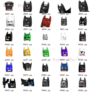 Single DC Superheroes Batman Dark Knight models Figures Head accessories Building Blocks toys for children Series-002