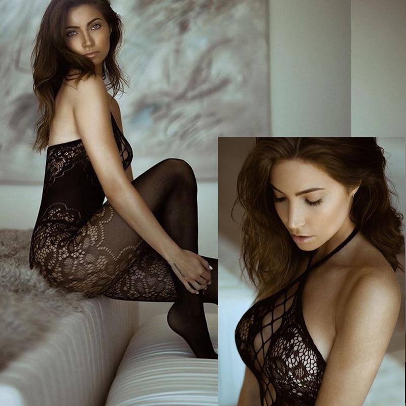 Sexy Lingerie Porno Erotic Langerie Lenceria Mujer Transparent Plus Size Women Sexy Costumes Lingerie Porno Catsuit Black Qq359