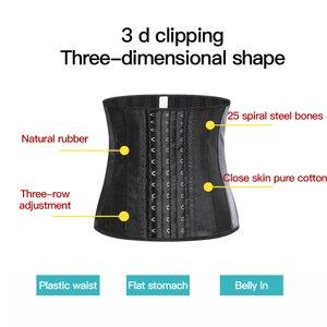 Image 5 - 25 Steel Bone Latex Waist Trainer Women Binders And Shapers Corset Modeling Strap Body Shaper Colombian Girdles Slimming Belt