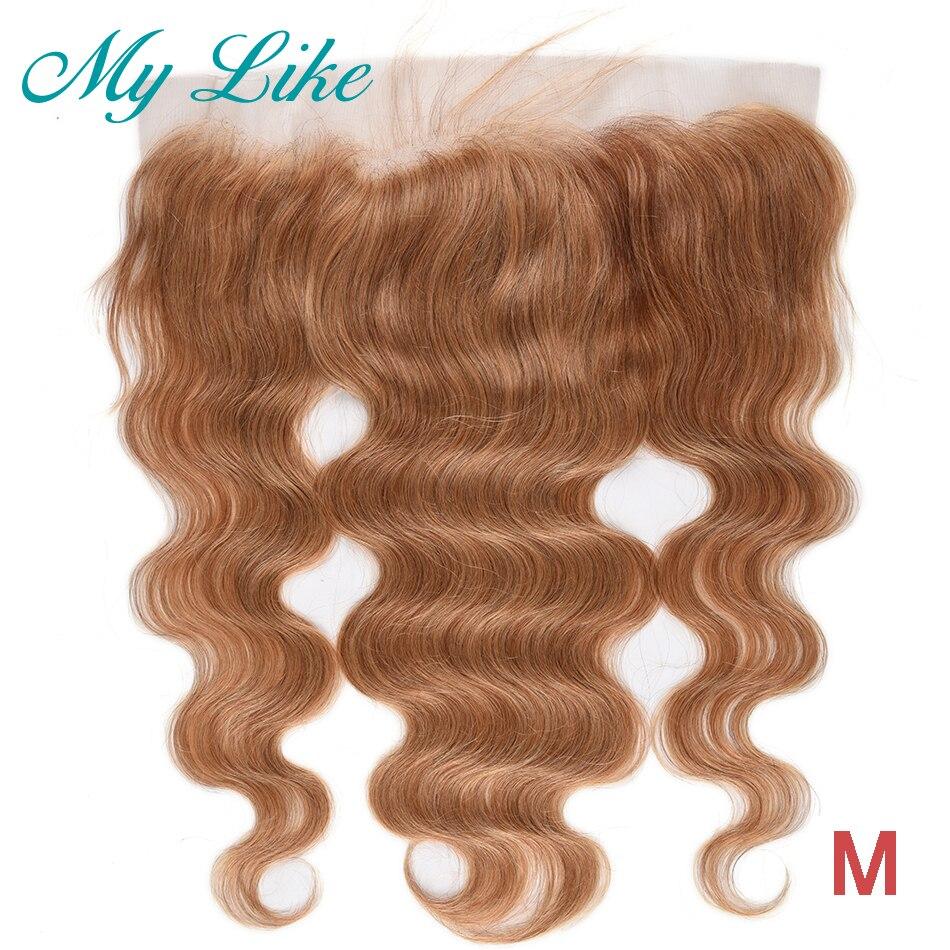 My Like 99j бордовая 13x4 кружевная фронтальная индийская прямая не-Реми натуральные волосы закрытие бесплатная/средняя часть ухо к уху