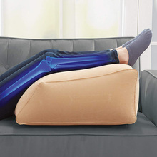 Leg Ramp Inflatable Leg Pillow Wedge Pillow Elevates Legs and Feet for Temporary Relief from Leg Swelling Sore Feet Sciatica