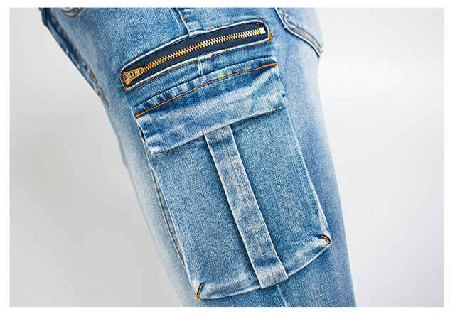 Skinny Jeans with side pockets in blue
