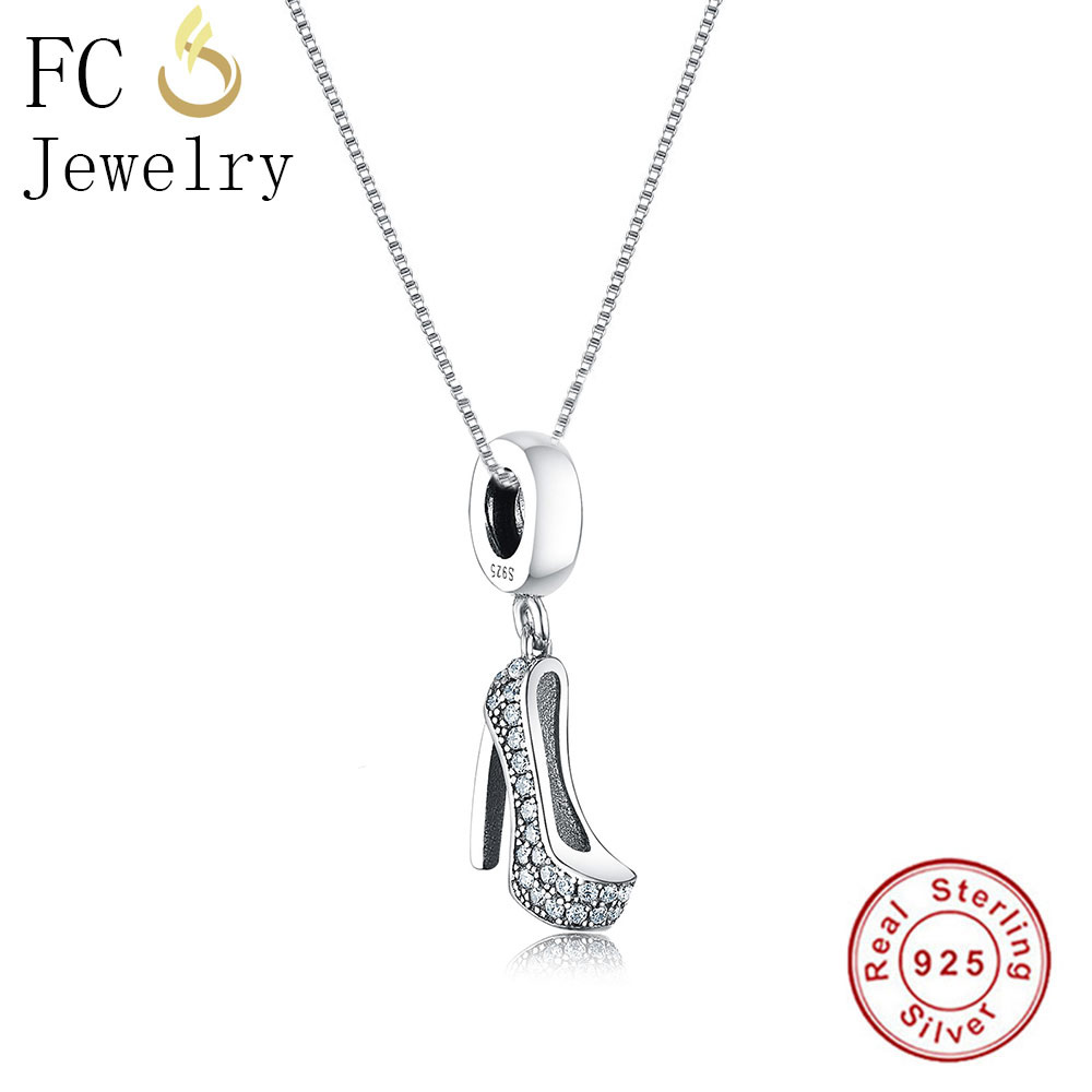 Sterling Silver High Heel Pendant