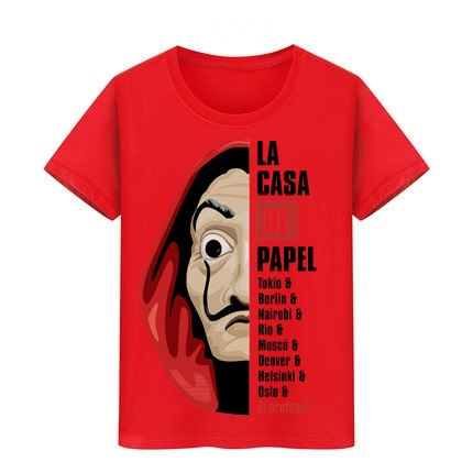 Boy Girl Tshirt La Casa De Papel Kid T Shirts House Of Paper Tee Hip Hop Blouse Clothes Children Tees Money Heist T-Shirt