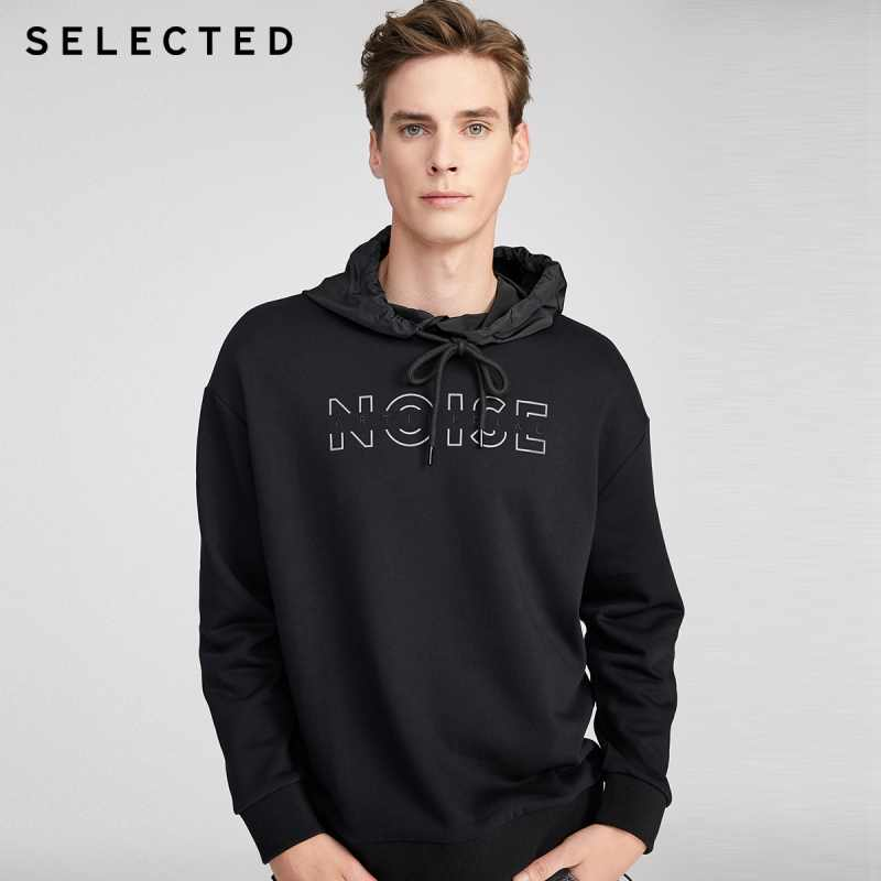 Geselecteerd Mannen Hooded Hoodies Brief Patroon Mode Sweatshirt S | 41944D523
