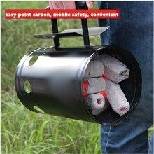 Démarreur de feu pour Barbecue, Camping, gril à charbon, cheminée, accessoires de BBQ sans allumage liquide, usage domestique en acier
