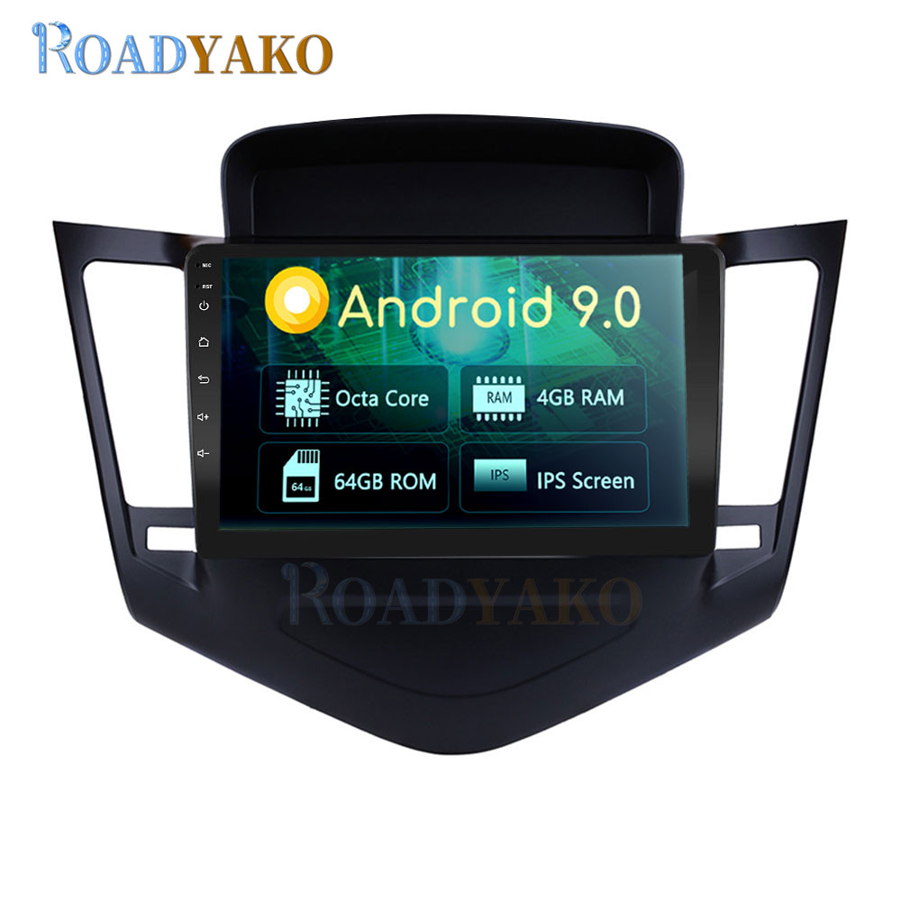 9'' Android 10.0 Auto Car Radio For <font><b>Chevrolet</b></font> <font><b>Cruze</b></font> 2009-2014 Stereo Car Navigation GPS Multimedia Video Player 2 Din Autoradio image