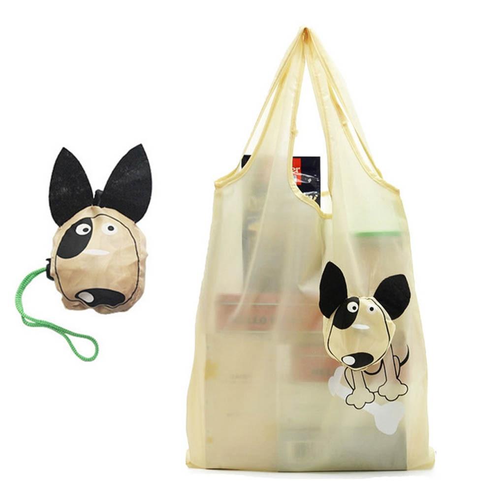 Unisex Cartoon Cute Dog Messenger Travel Bag Large Waterproof Shopping Bag  Convenient Large-capacity Foldable Storage Bags
