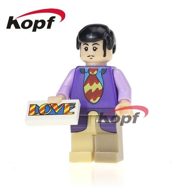 Single Sale PG986 Building Blocks Super Heroes John Winston Lennon Small Figures Model Bricks Action Toys For Children GiftModel Building