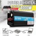 Автомобильный инвертор 12 В 220 В 4000 Вт  преобразователь напряжения на солнечной батарее  преобразователь постоянного тока 12 В/24 В AC110V/220 В  син...