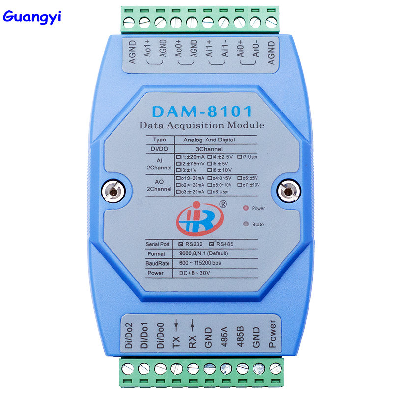 Guangyi DAM8101 Hybrid Analog Digital Input and Output Module Modbus RTU Voltage and Current Converter|Air Conditioner Parts| |  - title=