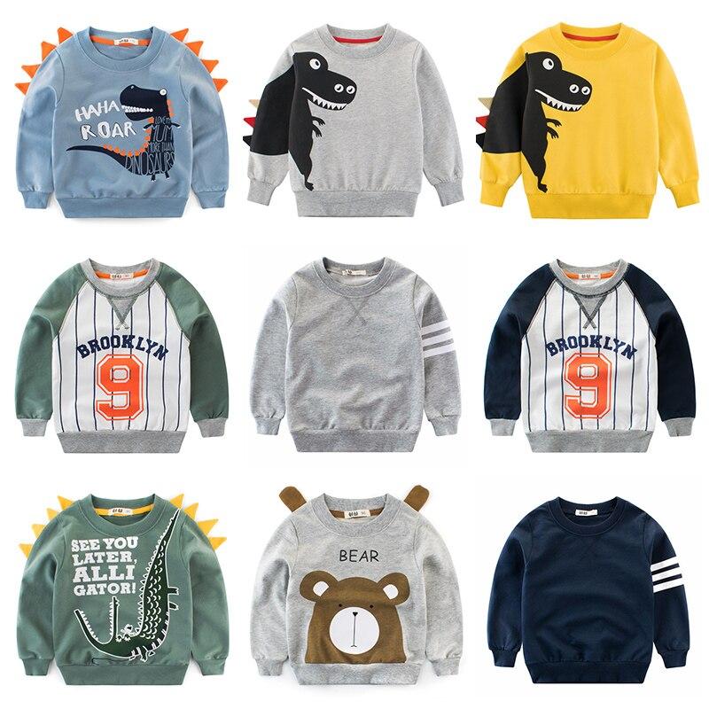 Boys Hoodies Kids Sweatshirt Toddler Girls Children Cotton Dinosaur Crocodile Cartoon Baby Tops Sweatshirts Winter Clothes  Full 1