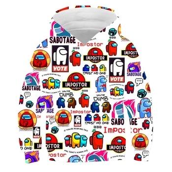2021 Among us Anime Hoodies Sweatshirts Hot Game Among us 3D print Hoodie Kids/Children Boys/Girls Auturn Winter Hooded 2