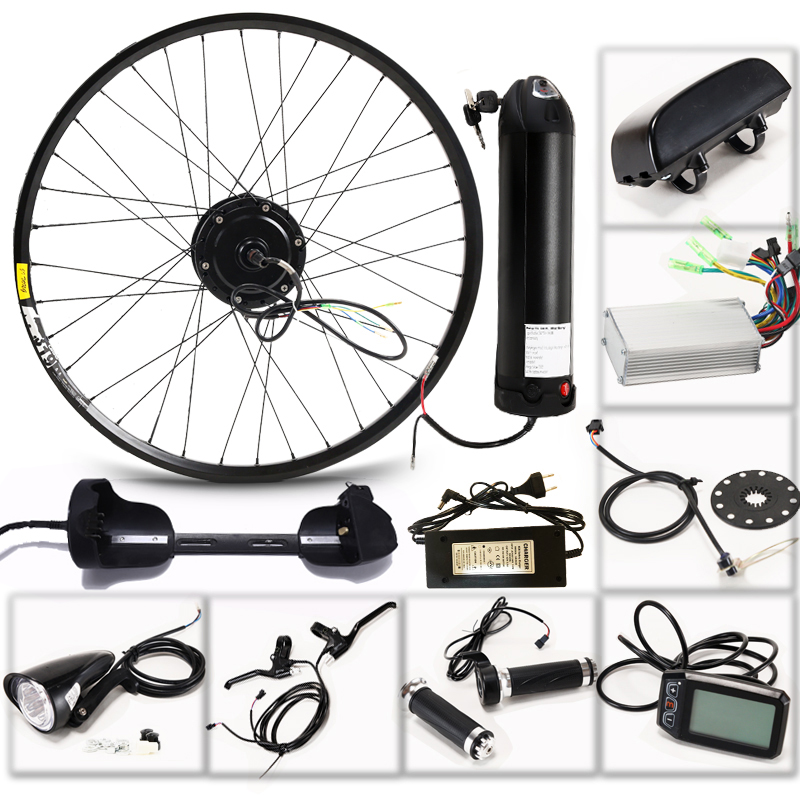 E bike elektrische bikes fahrrad Motor Rad 36V 350W eBike Kit Elektrische Fahrrad Conversion Kit für 29 zoll hinten Hub Motor LED LCD