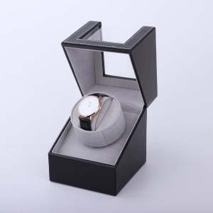 Watches-Box Winder-Holder Jewelry Motor-Shaker Mechanical-Watch Automatic Display Black