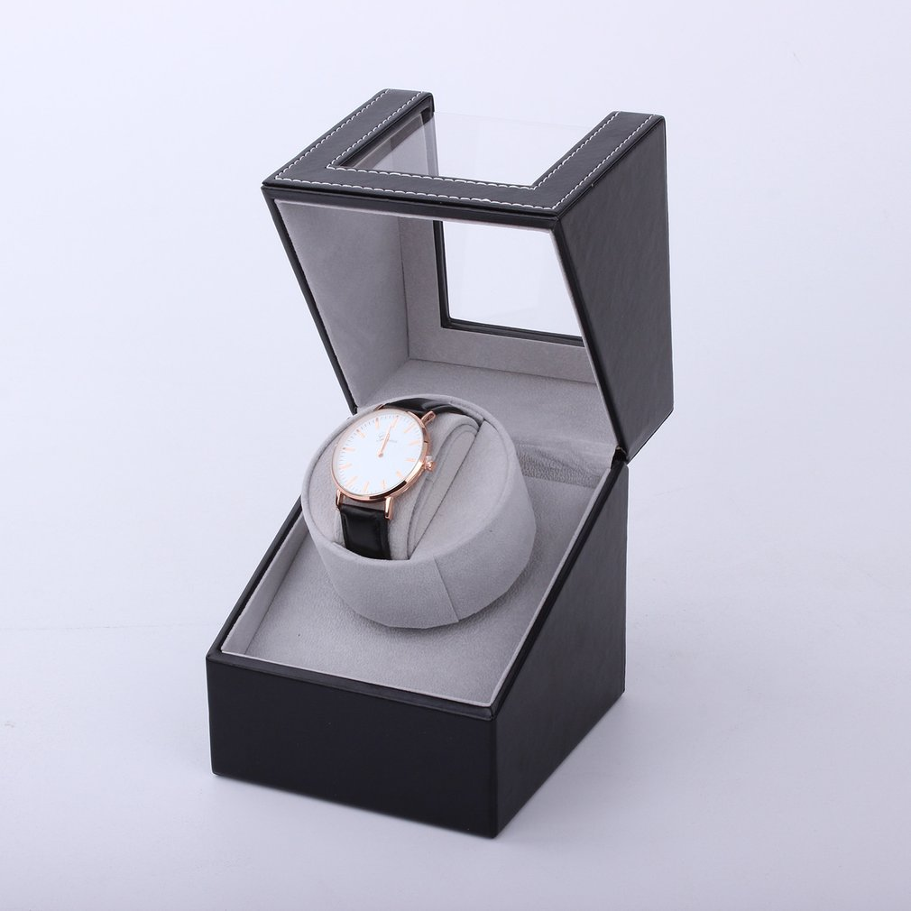 High Class Motor Shaker Watch Winder Holder Display Automatic Mechanical Watch Winding Box Jewelry Watches Box New Black