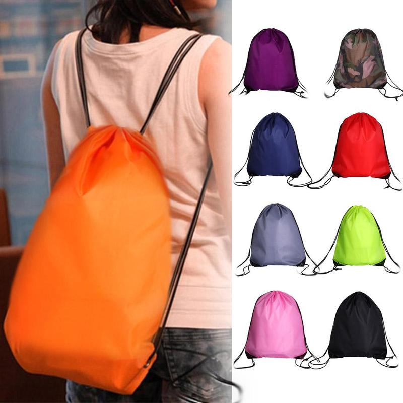 Portable Sports Bag Unisex-Schule Drawstring Backpack Waterproof Gym PE Sports Swimming Shoe Bag