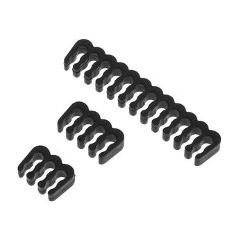 PP Cable Comb /Clamp /Clip /Dresser For 3.0-3.2 mm Cables Black 6/8/24 Pin image