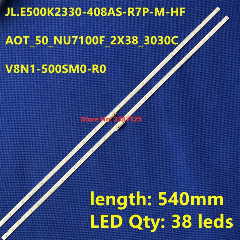 LED Backlight Strip 38 Lamp For AOT_50_NU7100F_2X38_3030C BN96-45952A 45962A V8N1-500SM0-R0 LM41-00564A LM41-46034A BN61-15484A