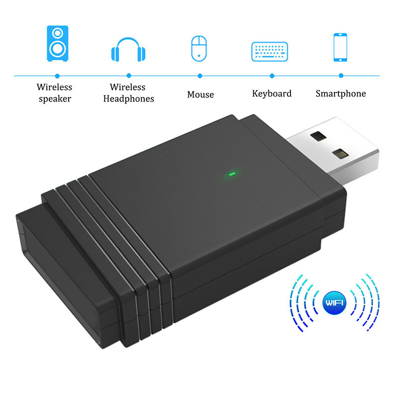 1200 Mbps USB 3.0 Wireless WiFi Adapter Dongle Dual Band Bluetooth 5.0 Built-in Dual Antenna New Arrival